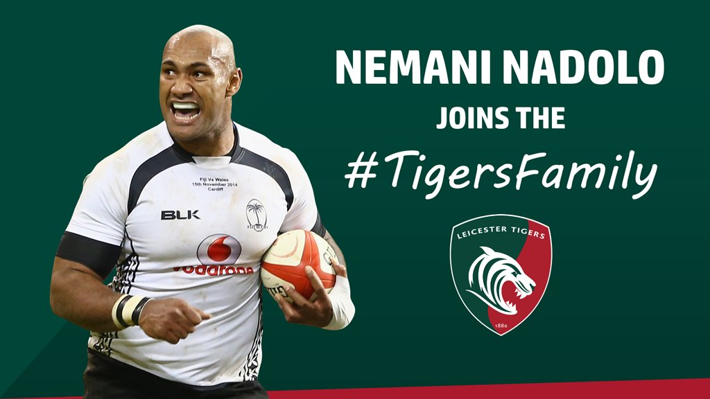 Leicester Tigers sign ex-Fiji winger Nemani Nadolo from Montpellier
